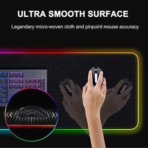 Image 5 - RGB Computer Luminous Gaming Mauspad Bunte Große Glowing USB LED Extended Beleuchtet Tastatur PU Nicht Slip Decke Schreibtisch Matte
