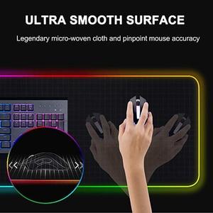 Image 5 - Tappetino per mouse da gioco luminoso per Computer RGB colorato grande incandescente USB LED tastiera illuminata estesa PU tappetino da scrivania antiscivolo