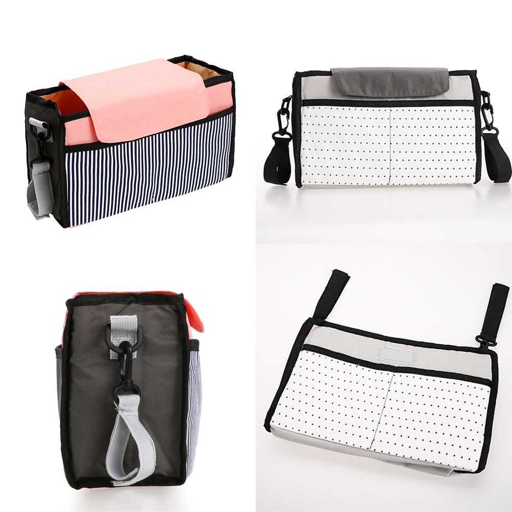Baby Diaper Bag Storage Bags Large Capacity Mummy Bag Multi-function Nappy Bags Baby Stroller Accessories 32cm* 20cm* 8cm