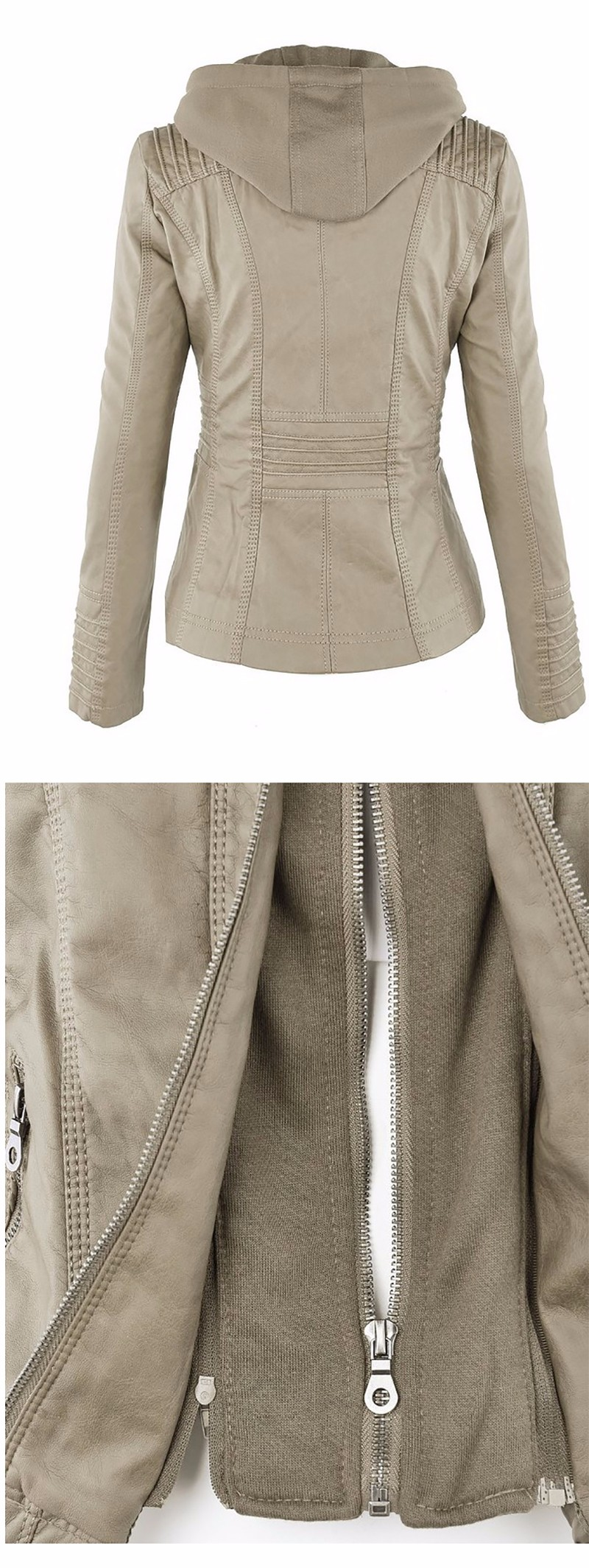18 Winter Faux Leather Jacket Women Casual Basic Coats Plus Size 7XL Ladies Basic Jackets Waterproof Windproof Coats Female 50 6