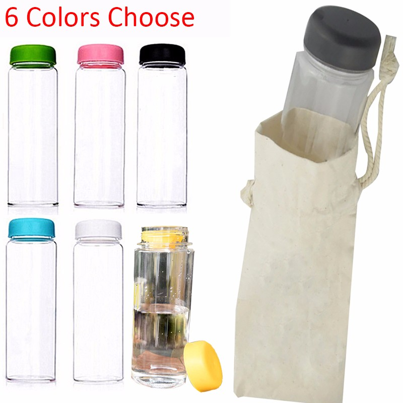 500ml Plastic Water Bottle Portable Leakproof Thermoplastic Cute Sports