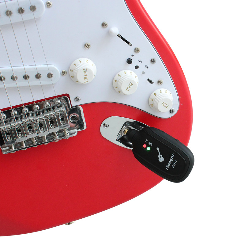 Flanger Wireless Guitar Transmitter Receiver System UHF Transmission Range for Electric Guitar Bass Violin Ukulele For charging 2pcs guitar piano bass guitar hook violin ukulele electric guitar stand long arm wall hanger hook holder pa094