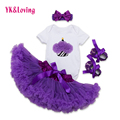 2017 Birthday Baby Girl Outfit Cake Print Short Sleeve Bodysuit + Tutu Skirt + Headband 3Pcs Elegant Infant Girls Clothes Set Yi