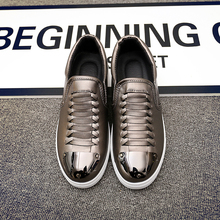 Genuine Leather Spring/Autumn Men Flat Shoes Lace-Up Action Leather Men Footwear Lightweight Comfortable Quality Shoes For Male