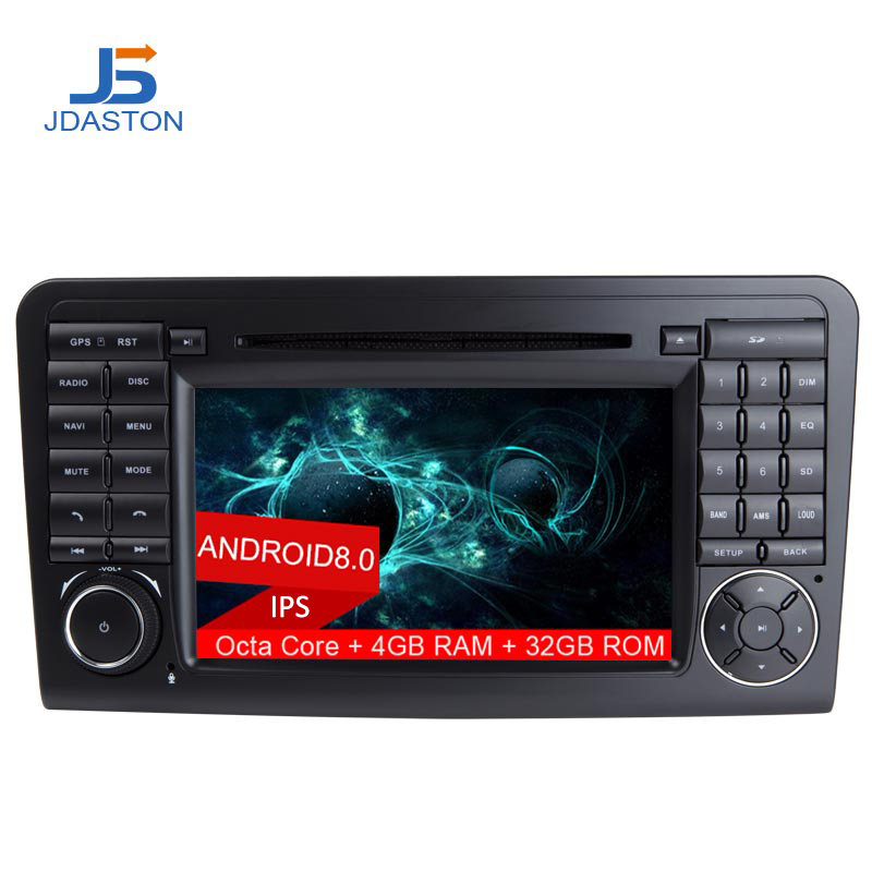 JDASTON Android 8.0 2 Din 7 Inch Car DVD Player For Mercedes Benz ML W164 ML350 ML500 GL X164 GL320 4G+32G Radio GPS navigation цена