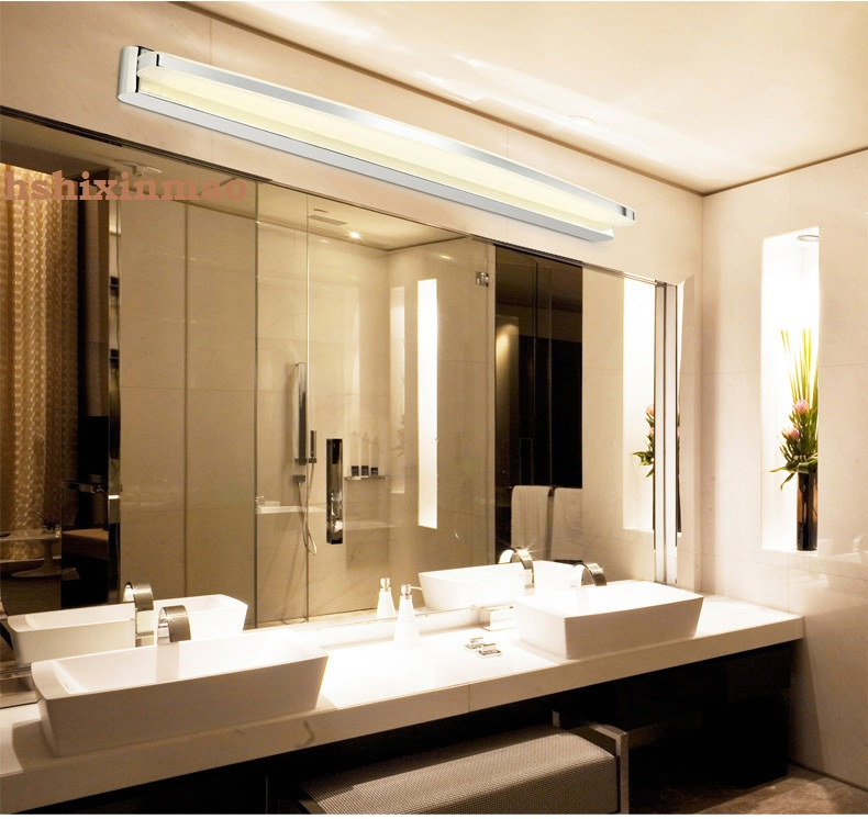 Créatif maison miroir phares mur LED lampe chambre étude salle de bain éclairage