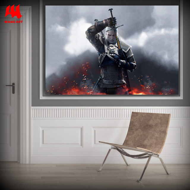 WANGART the Witcher 3 Canvas Art Print Poster Painting Hunting Wild Game Cirilla Geralt large Wall Picture for Living Room jy681 2