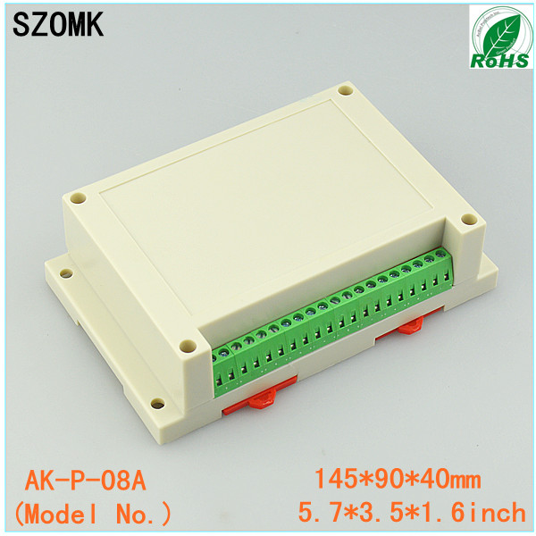 1 piece distribution box plastic box electronics wall mount abs din rail case control box 145x90x40mm 1 piece free shipping szomk diy wall mount plastic box abs card reader enclosure screen case lcd case rfid