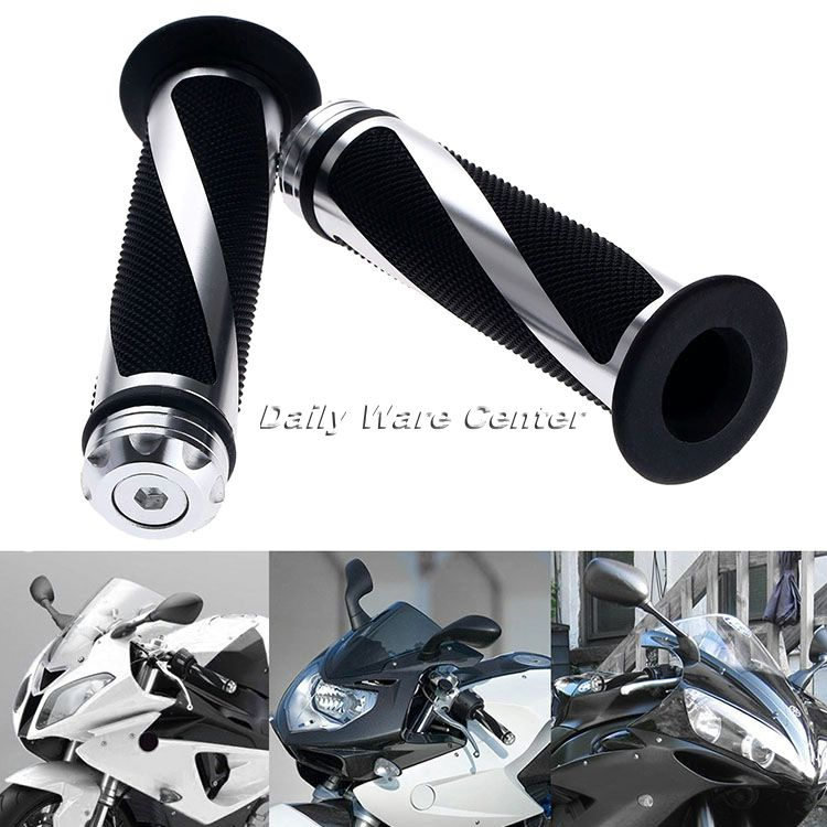 1Pair 7 8 quot 22mm Motorcycle Handlebars Hand Grips CNC Aluminum Sports Dirt Bike Handle Grips Bar Ends For Honda Yamaha Motor Part in Grips from Automobiles amp Motorcycles