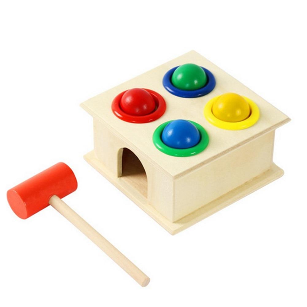 Original Wooden Ball Hammer Box Toy Children Early