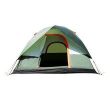 775d2c760026b Haute Qualité Étanche Double Couche 3 4 personne Camping En Plein Air Tente  Randonnée Tente De Plage Touristique Chambre Voyage .