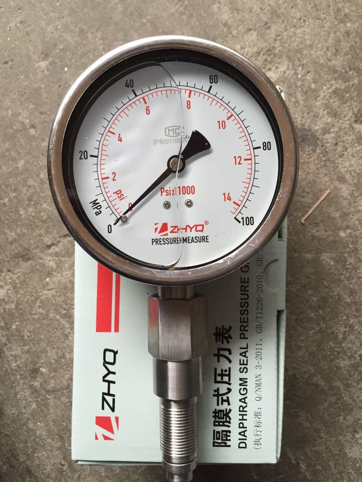 Hygienic Diaphragm Pressure Gauge For PT124Y-620-70mpa100MpA Homogenizer