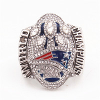 US Size 7 To 15 Fast Shipping 2017 New England Patriot Champion Ring High Quality Ring