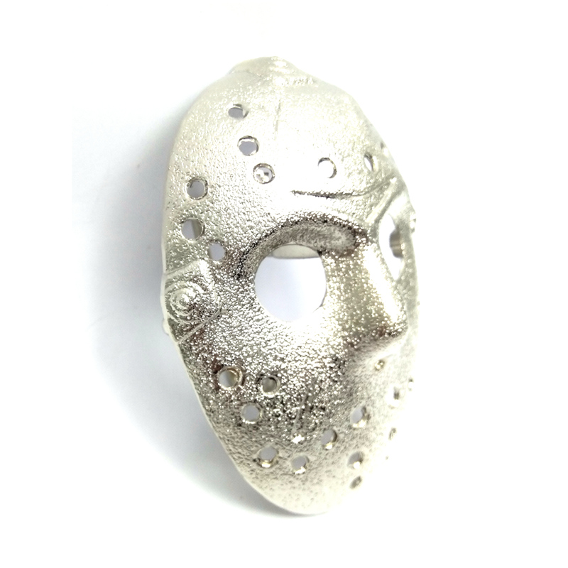 5 pcs wholesale Friday the 13th jason voorhees mask silver 3D belt buckle Custom Zinc Alloy Metal buckle for belt accessories