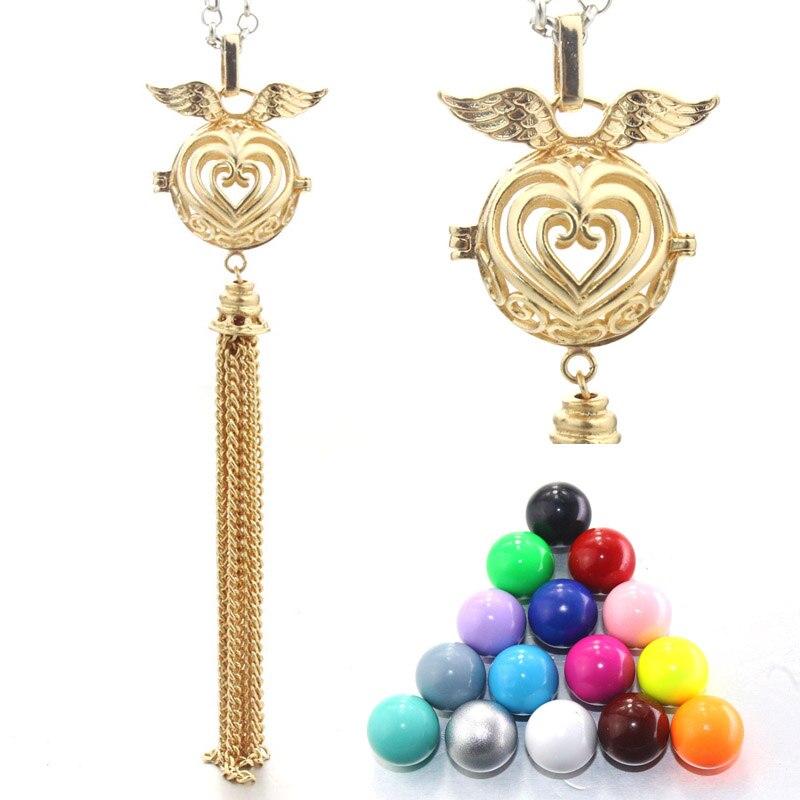 18MM Charm Mexican Bola Aromatherapy Cage Copper Tassel Pendant Women Locket Jewelry For Eudora Harmony Ball 040319