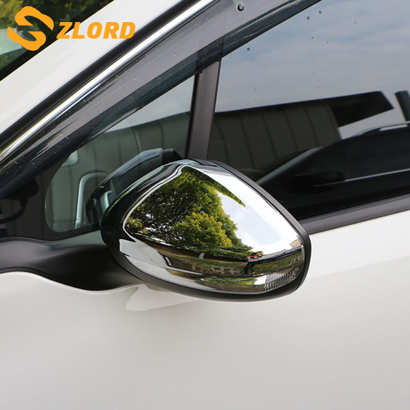 Zlord ABS Chrome Car Rear View Mirror Protection Covers Rearview Mirror Stickers For Peugeot 208 2014 - 2017 Accessories