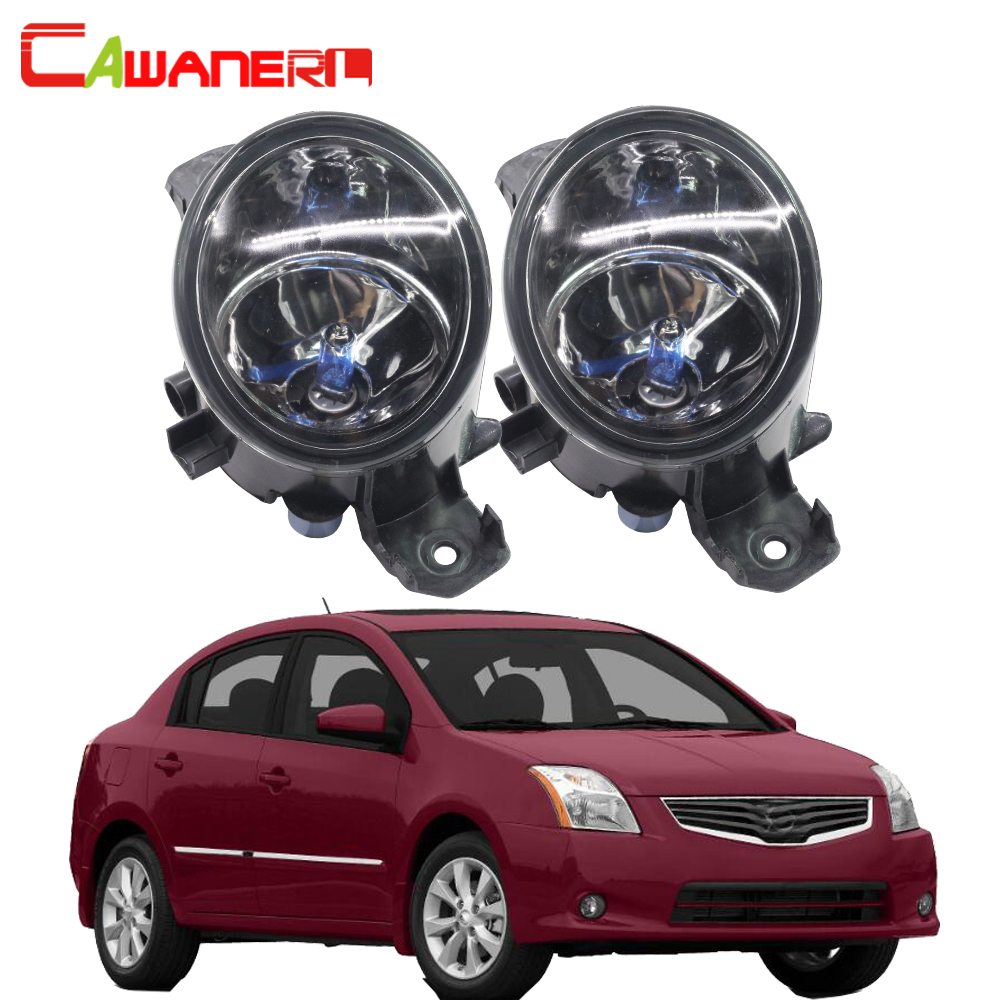 Cawanerl For Nissan Sentra 2004-2015 2 Pieces 100W H11 Car Styling Halogen Fog Light DRL Daytime Running Lamp 12V High Power
