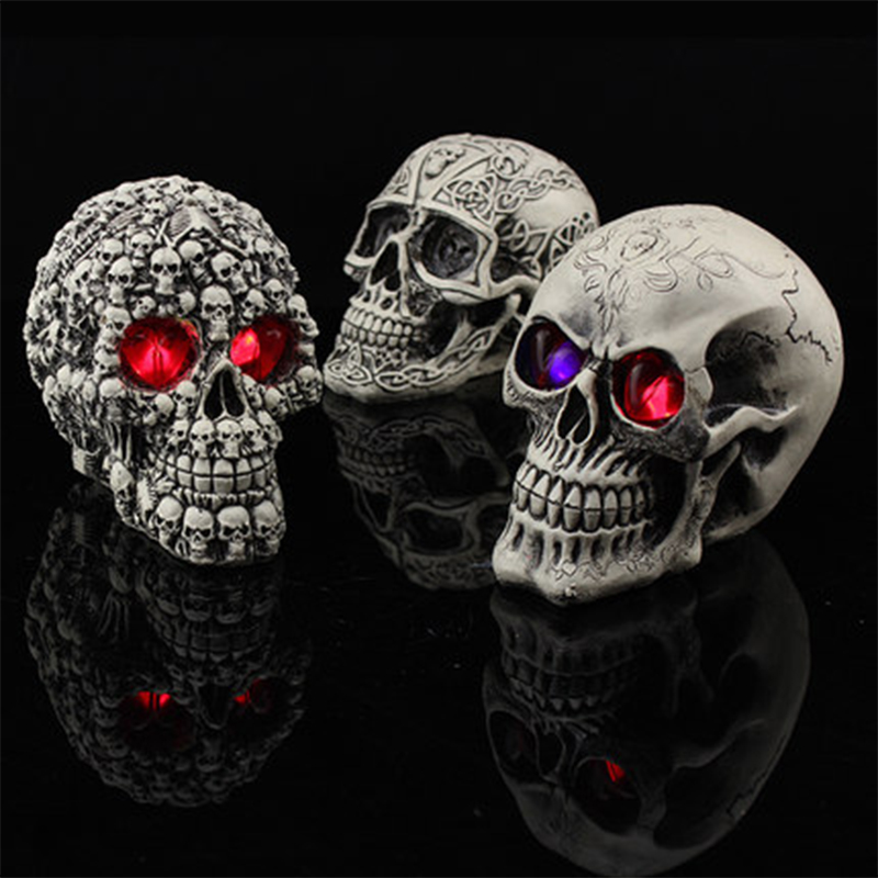 high quality resin luminous skull halloween decorative jsf halloween 001china - High End Halloween Decorations