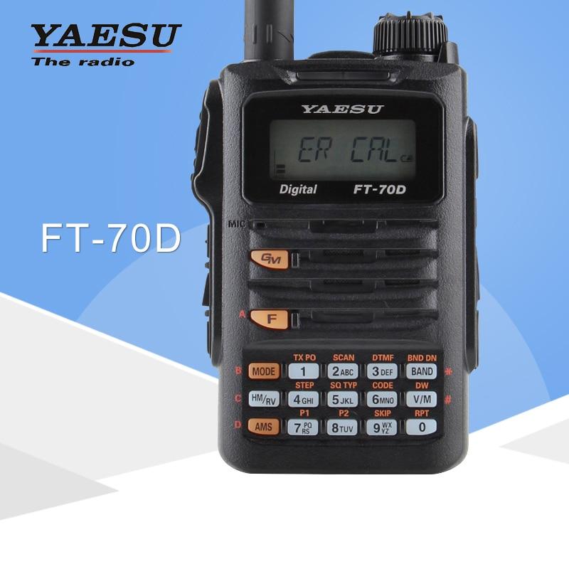 Для оригинального Yaesu FT 70D Walkie Talkie C4FM/FM двухдиапазонный цифровой портативный двухсторонний радиоприемопередатчик