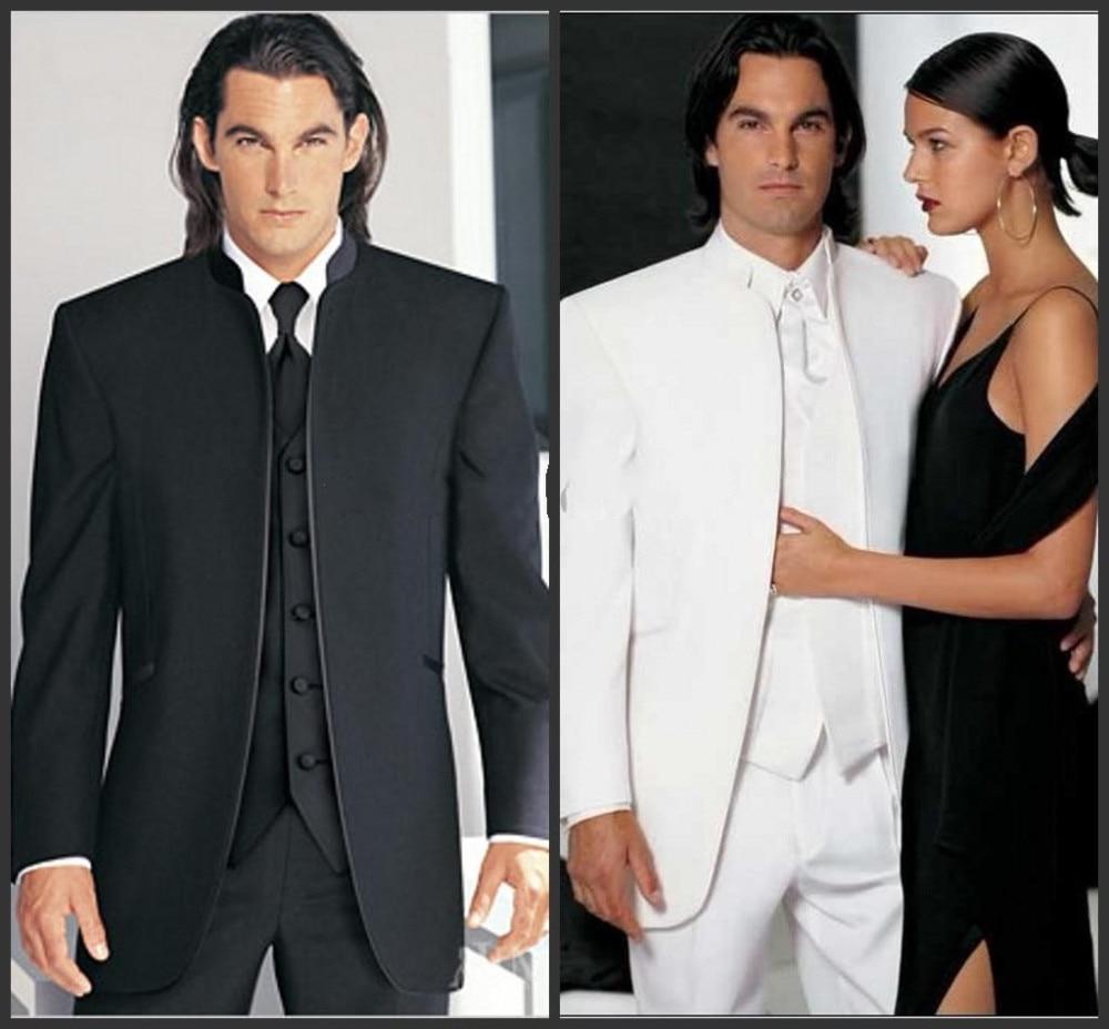 Kuum müük unikaalne nupp peigmehe tuxedos 3 tükki groomsmen - Meeste riided - Foto 1