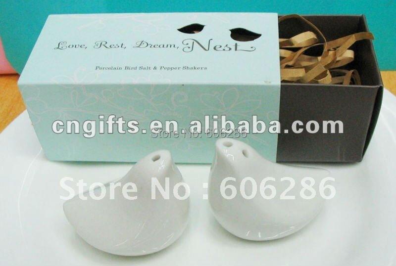 40pcs20setslot Love Birds Ceramic Salt And Pepper Shaker