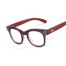 New Fashion Oval Wood Glasses Unisex