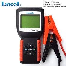 Best Micro-468 цифровой ЖК-дисплей Батарея тестер универсальный для тестирования 6 В и 12 В автомобиля Батарея тестер с несколькими- языки