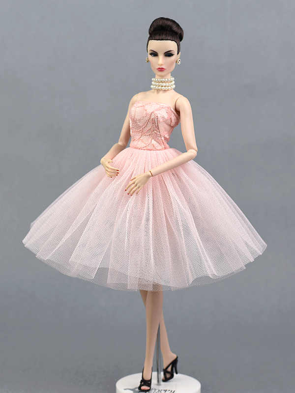 c1f895ef32533 New Design Pink Lace Dress Skirt Party Wedding Princess Gown Fashion Outfit  Clothes For 1/6 Barbie Xinyi Fr Doll Girl Xmas