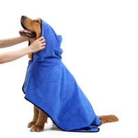 Gute XS-XL Pet Bademantel Warme Kleidung Super Saugfähigen Trocknen Handtuch Stickerei Pfote Katze Hund Haube Bad Hundesalon Produkt