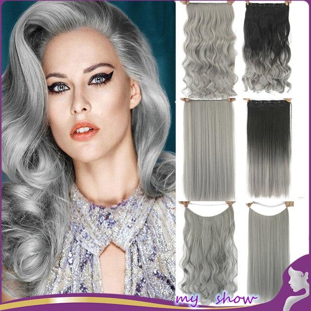 Tinte gris pelo rizado