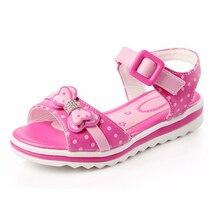 Filles Sandales D'été Dot Arc Enfants Chaussures Princesse De la Mode Tête de Poisson
