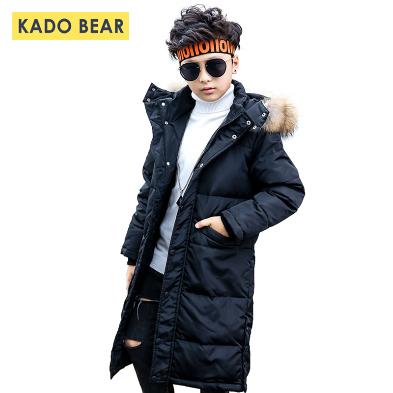 Boys Thick Snowsuit Girls Fur Collar Winter Down Coat Jackets Kids Hooded Warm Baby Girl Clothes Fashion Coats Unisex Outerwear buenos ninos thick winter children jackets girls boys coats hooded raccoon fur collar kids outerwear duck down padded snowsuit