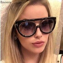 Emosnia Black Flat Top Quality Hot Cat Eye Sunglasses Men Wo
