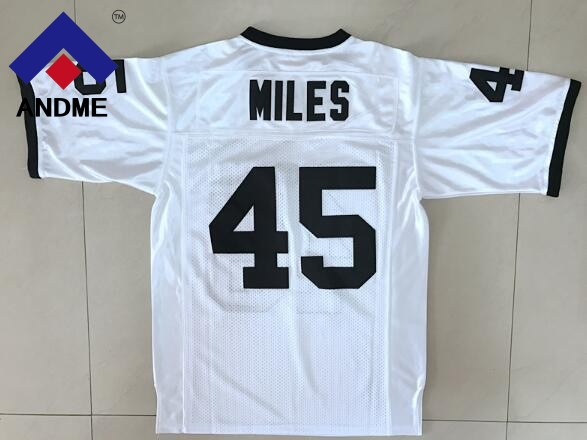 American Football Jersey Boobie Miles #45 Friday Night Lights Permian Black White All Stitched Top Quality Size S-3XL