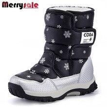 Marque chaussures 2016 nouvelle automne et d'hiver enfants de neige bottes femmes bottes chaudes enfant bottes