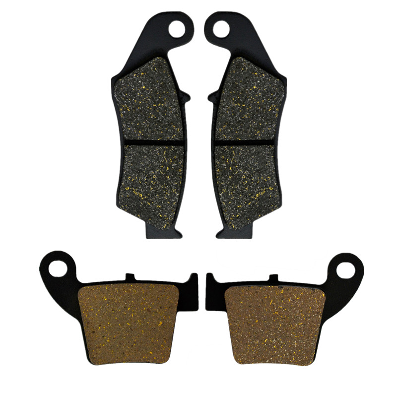 Motorcycle Parts Front & Rear Brake Pads Discs For HONDA CRF250R CRF250X 2004-15 CR125R CR250R 02-07 CRF450R 02-15 CRF450X 05-15 motorcycle front and rear brake pads for honda cr125r cr250r cr500r cr 125 250 500 r 1987 2001