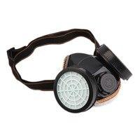 NEUE Safurance Schutz Filter Dual Gasmaske Chemische Gas Antistaubfarbe Atemschutzmaske mit Brille Arbeitssicherheit
