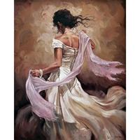 Famous woman painting Woman in white dress oil on canvas impressionist art Handmade Gift