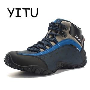 YITU Leather Hiking Boots Men