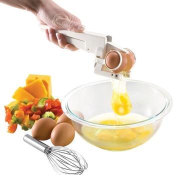 1PC New arrival hot TV product Plastic Handheld EZ Cracker Egg Cracker Separator Egg Cutter Slicer Kitchen Tools OK 0473