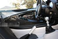 Matte Finish Dry Carbon Fiber Inner Door Card Panel Replacement Fit For 2004 2011 Lotus Exige S2 Elise S2 Interior Trim