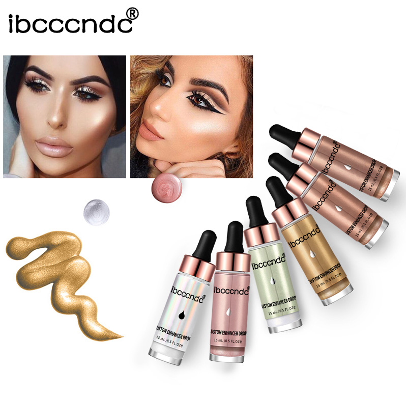 IBCCCNDC Liquid Highlighter Make Up Cream Concealer Shimmer Face Glow Ultra-concentrated Iluminating Bronzing Drops