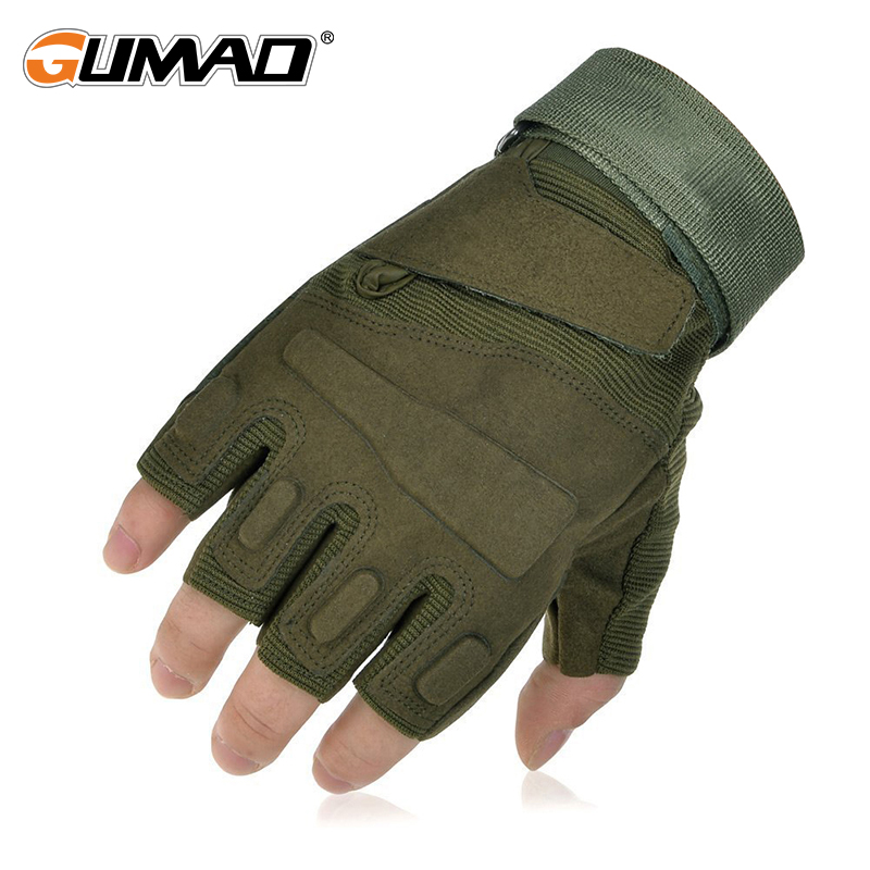 Outdoor Military Tactical Glove Army Blackhawk Half Finger Glove Combat Hard Knuckle Hiking Hunting Climbing Cycling Riding blackhawk gloves finger blackhawk 110018