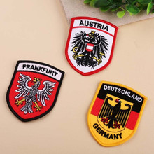 France Germany Australia Flag Embroidered Patch Iron On Patches For Clothing Embroidery Design diy Phone Bag Accessories