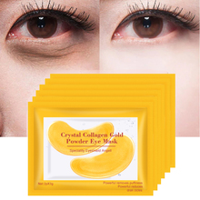 Gold Masks Crystal Collagen Eye Mask Anti-Wrinkle Patches for the Eyes Gel Face Remove Black Care 5Pair=10PCS EFERO