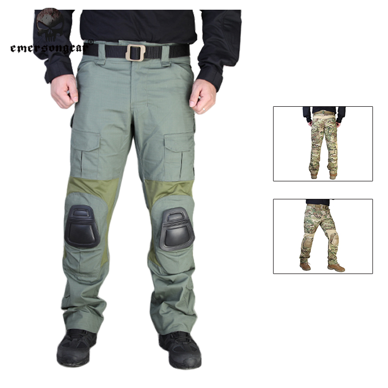 aa8065c236 Emersongear G2 Tactical Pants With Knee Pads Airsoft Emerson gen2 Combat  Training Military Trousers EM7038 Coyote