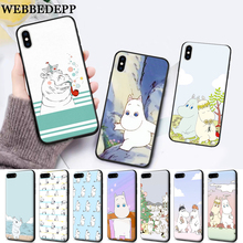 WEBBEDEPP Hippo Cute animal cartoon Protective Silicone soft Case for iPhone 5 SE 5S 6 6S Plus 7 8 11 Pro X XS Max XR