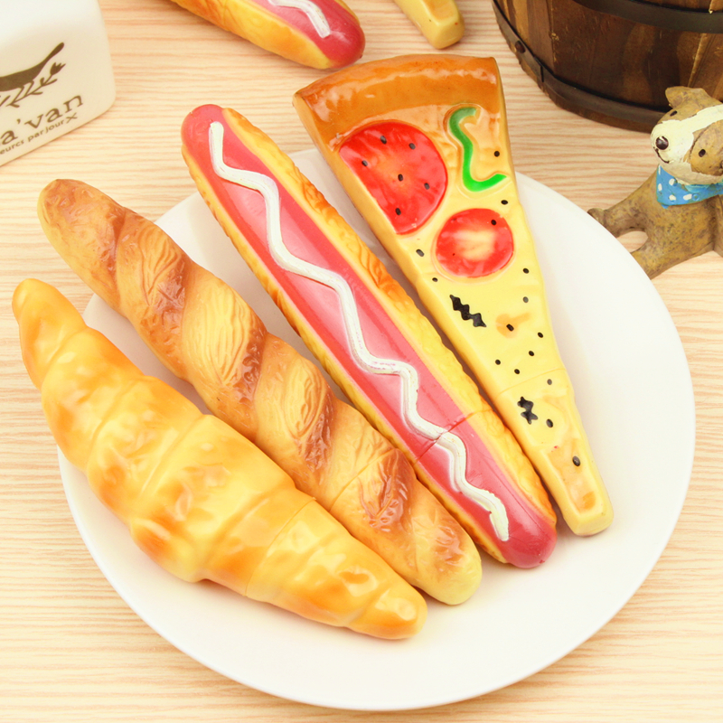 Creative Pizza Bread Ballpoint Pen Novelty Pens Back Magnet Attached To The Refrigerator For Kid Student Gift School Stationery