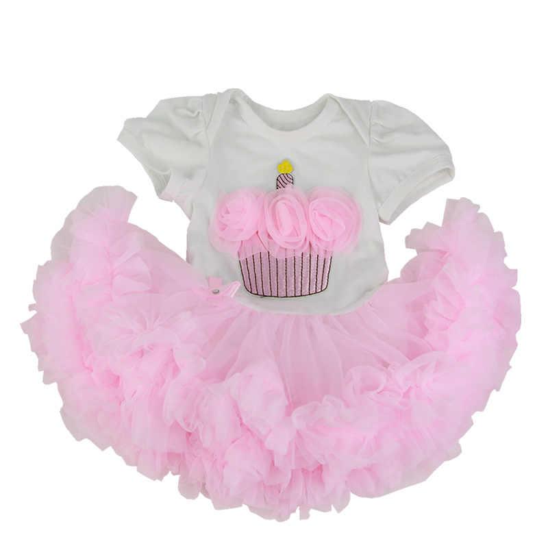 ורוד עריסת שמלת שני חלקים חליפת Fit עבור 22-23 אינץ Reborn בובות אמיתי ורך למגע תינוקות חליפת בגדי ילדים יום הולדת מתנה