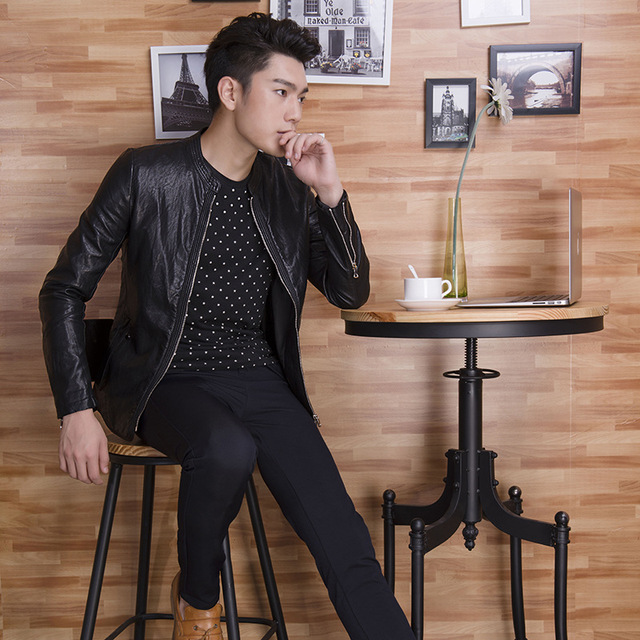 The new 2016 men's clothing washed leather Men's fashion leisure leather